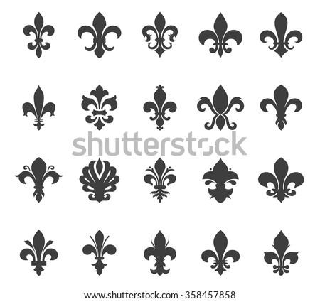 fleur de lis vector shapes - download free vector art, stock