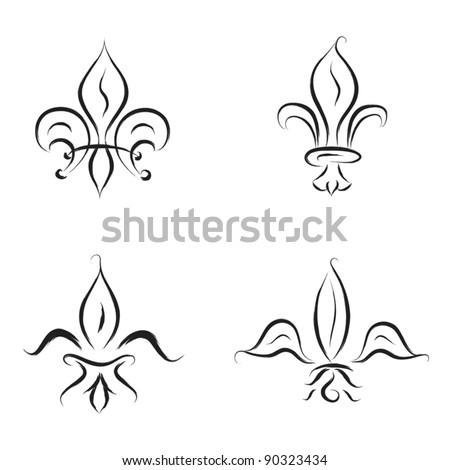 fleur de lys sketch illustration