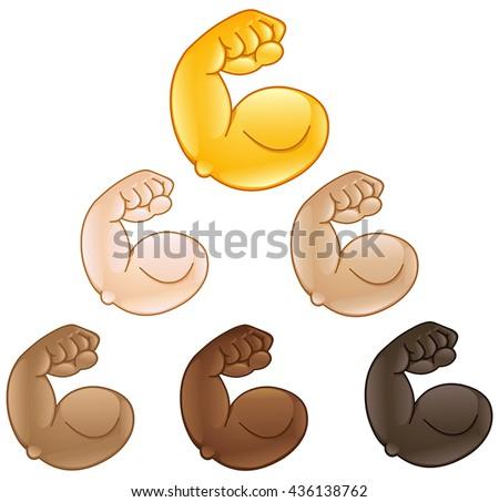 flexed biceps hand emoji of