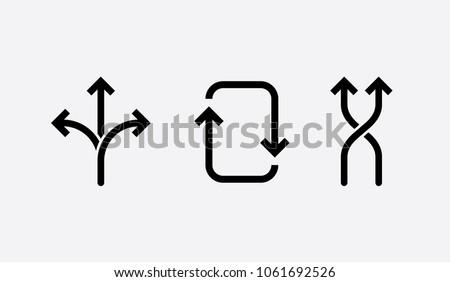 flexibility icons. concept vector illustration, black and white symbol. Foto stock ©