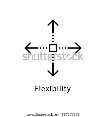 Flexibility Vector Line Icon