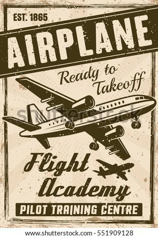 flight academy vintage poster...