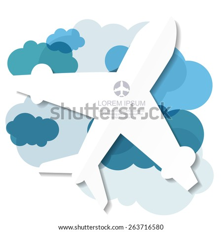 flight airplane silhouette and