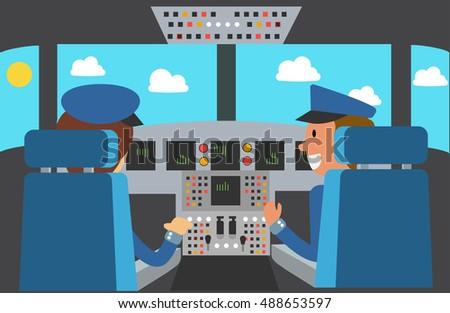 flight deck of modern aircraft