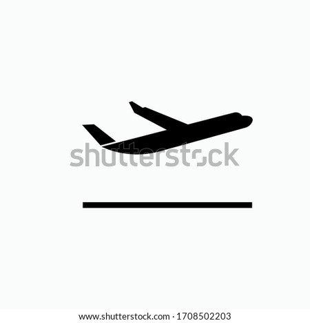 Flight Departure Icon. Transportation Symbol - Vector.