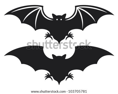 flight of a bat silhouette