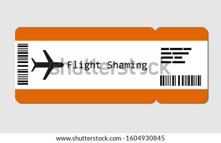 Flight ticket for