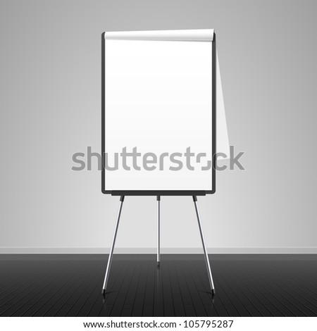 Flip chart. Vector.