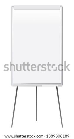 Flip chat for the presentations, White flipchart