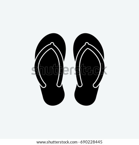 493f2a62a8c712 flip flop icon vector
