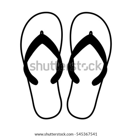 47970c2232a183 flip flops isolated icon vector illustration design