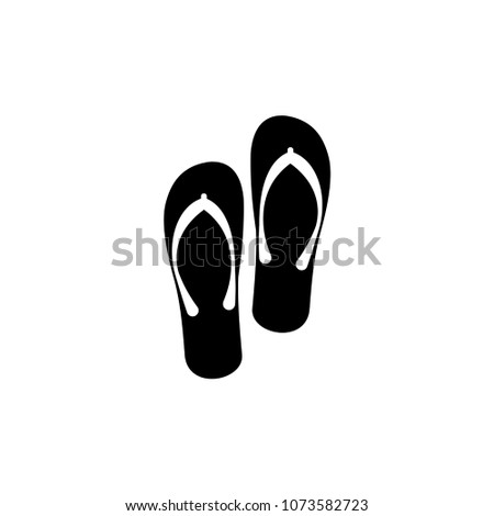 21412e208fc7aa Flip flops isolated on a white background