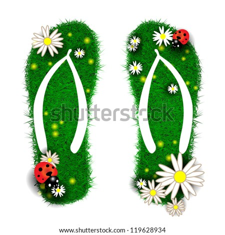 flip flops made of grass