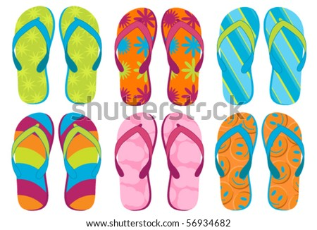 Flipflops - Set of colorful fun flipflops