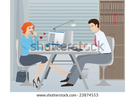 flirting in the office