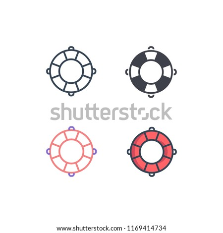 float icons vector. icons with four different styles