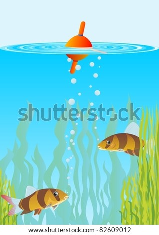 float on the water surface in