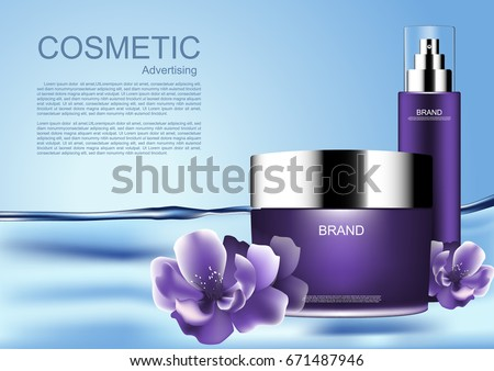 floating cosmetic products with