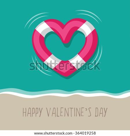 floating heart shaped life buoy