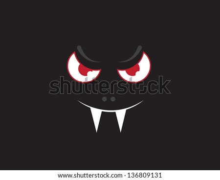 floating vampire bat face in