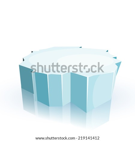 floe isolated on a white