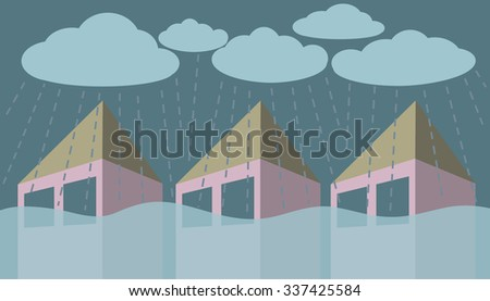 flood and heavy rain