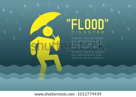 flood disaster of man icons