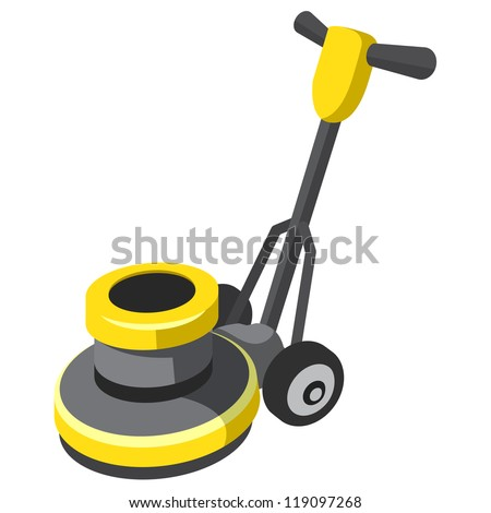 Vector Images Illustrations And Cliparts Floor Buffer And Polisher