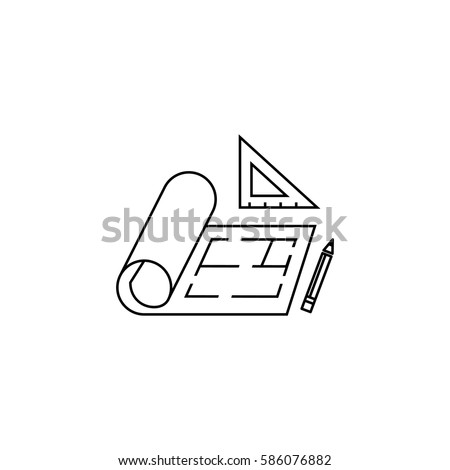 floor icon,plan icon - vector illustration.
