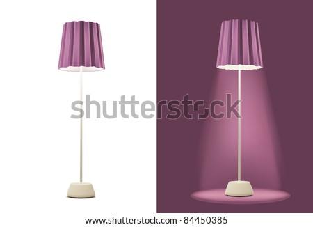 Purple Floor Lamps on Floor Lamp Stock Vector 84450385   Shutterstock