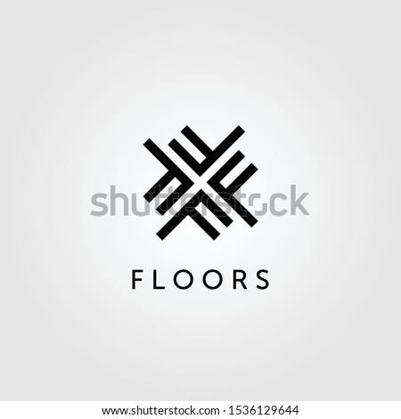 floor logo initial letter f