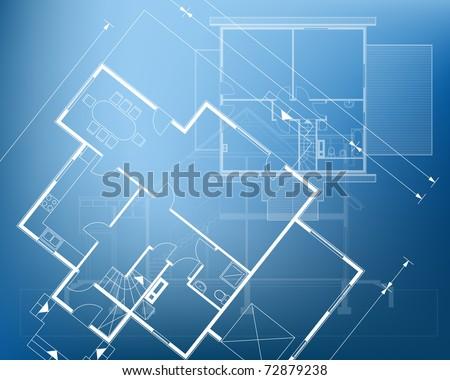 Blueprint Vector Drawings Floor Plan Blueprint Vector