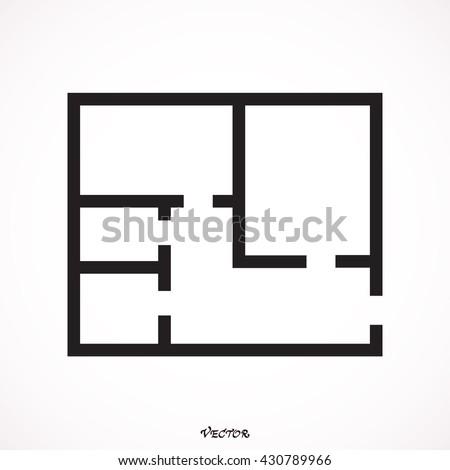 floor plan icon vector