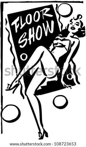 Floor Show Banner - Retro Clipart Banner