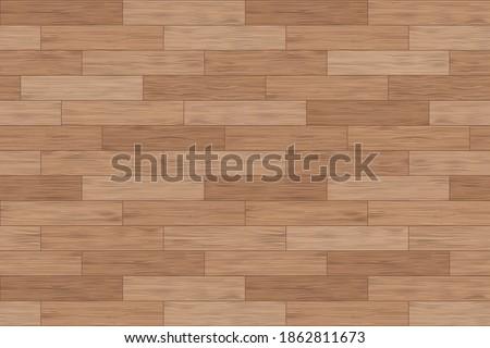Floor wood parquet. Flooring wooden seamless pattern. Design laminate. Parquet rectangular tessellation. Floor tile parquetry plank. Hardwood tiles. Rectangles slabs brown wooden. Vector background