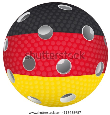 Floorball ball with the flag Germany