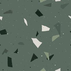 Flooring venetian terrazzo seamless pattern. Natural realistic stone imitation, marble confetti background. Vector  green, emerald surface texture of granite, concrete, mosaic tile, pebbles, quartz.