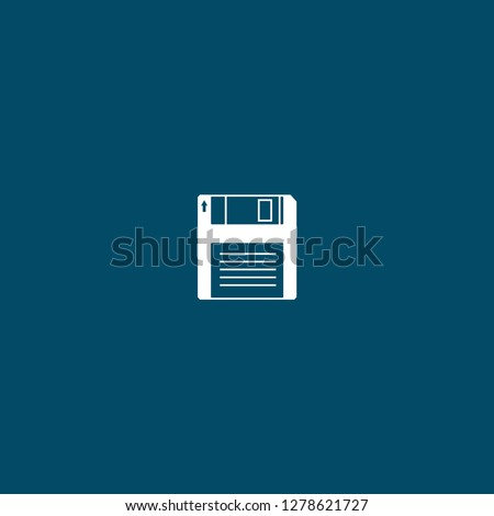 floppy disk icon . floppy disk icon on blue background