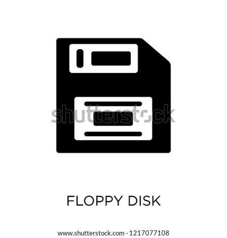 Floppy disk icon. Floppy disk symbol design from Programming collection. Simple element vector illustration on white background.