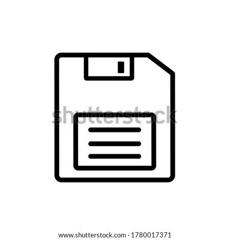 Floppy disk icon,vector illustration. Flat design style. vector floppy disk icon illustration isolated on White background, floppy disk icon Eps10. floppy disk icons graphic design vector symbols.