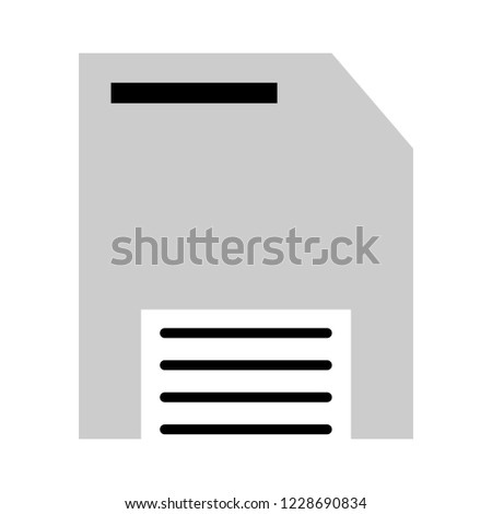 Floppy disk or save flat vector icon for apps and websites