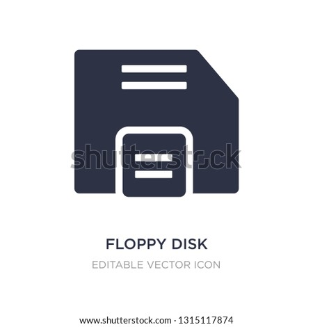 floppy disk save button icon on white background. Simple element illustration from UI concept. floppy disk save button icon symbol design.