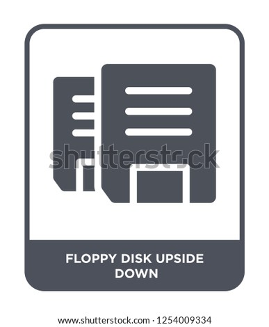 floppy disk upside down icon vector on white background, floppy disk upside down trendy filled icons from Hardware collection, floppy disk upside down simple element illustration