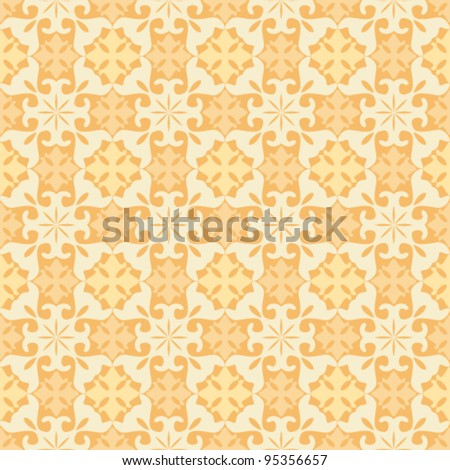 Floral abstract background, seamless repeat pattern