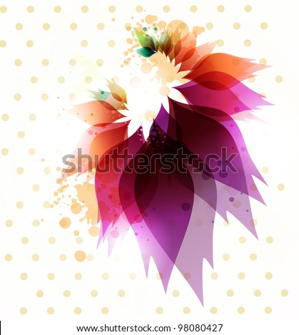 Floral abstract background.Vector.