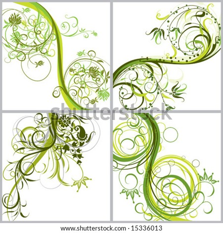 Floral abstract backgrounds, vector illustration