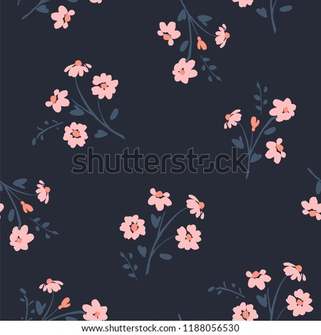 Floral abstract seamless pattern. Vector design for paper, cover, fabric, interior decor and other users