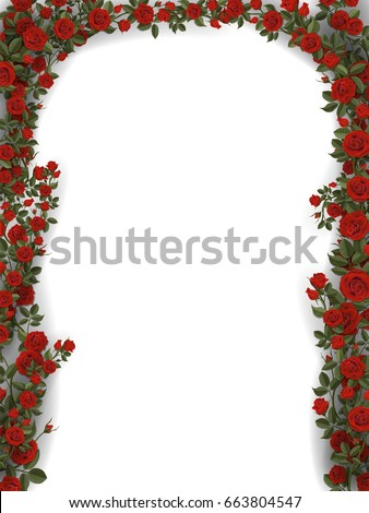 floral arch of roses detailed
