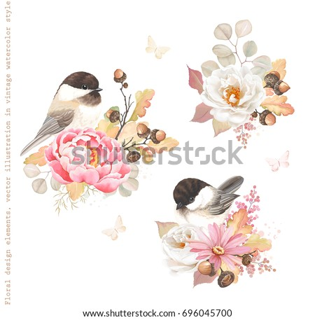 floral autumn decorations with