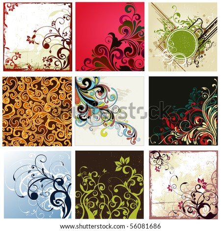 floral background collection
